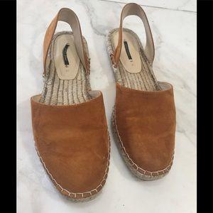 Zara Basic slip on shoe sling back sandals flats